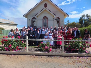 The beautiful Emerald Bank Chapel in Kialla. Perfect venue for a small intimate wedding!