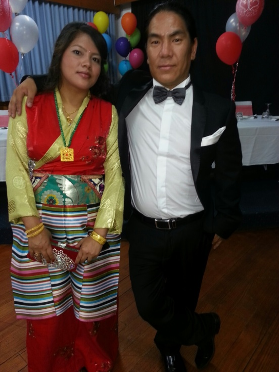 Dawa and Dil were married in January. Dil wore her traditional Nepalese costume.