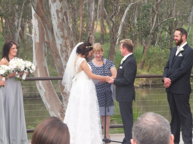 James Peace and Echo Lan were married at Mitchellton Winery on 15th November 2014