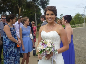 Erin Nicholls after her wedding. She was such a beautiful bride.