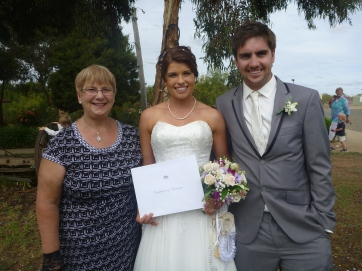Congratulations to the new Mr and Mrs Nicholls.